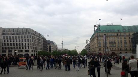 Joggen über den Pariser Platz